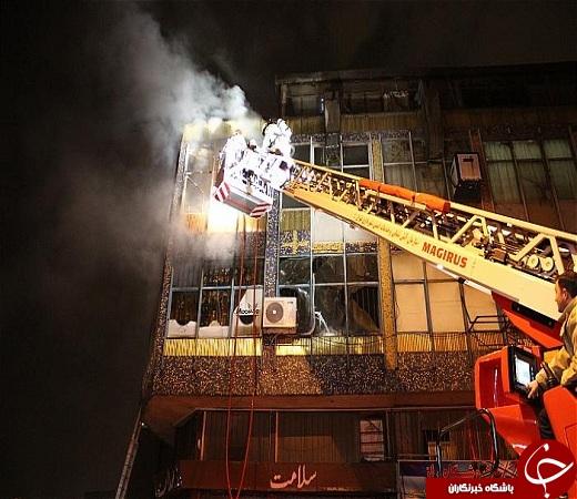 انفجار و آتش سوزی در انبار عطر و ادکلن + عکس