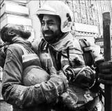باشگاه خبرنگاران - ابراز همدردی آتشنشانهای کانادایی با همکاران تهرانی خود +عکس