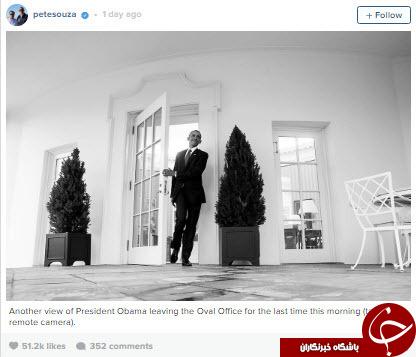 آخرین تصاویر از حضور اوباما در کاخ سفید