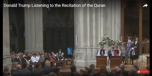 قرائت قرآن در حضور دونالد ترامپ +فیلم