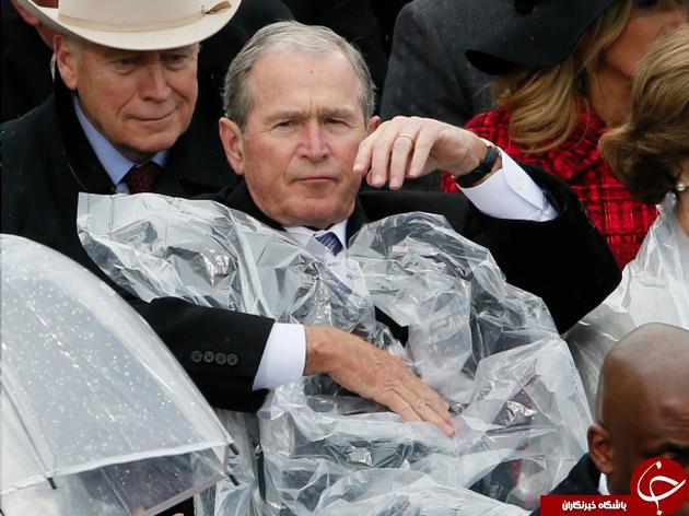 بوش در مراسم تحلیف ترامپ