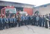 باشگاه خبرنگاران - ابراز همدردی دانش آموزان نهاوندی با آتش نشانان حادثه پلاسکو +تصاویر