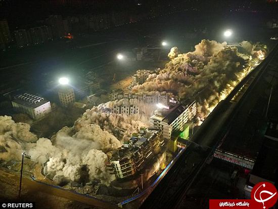 ساختمانهایی که فقط در 10 ثانیه تخریب شدند +تصاویر