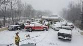 باشگاه خبرنگاران - تصادف زنجیره ای در محور دلیجان - سلفچگان به دلیل بارش برف و لغزندگی جاده