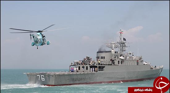 نگین تماما ایرانی خلیج فارس در آبهای بینالمللی/ ناوشکن