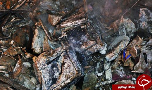 عکس/ گاوصندوقهای ذوب شده در آتشسوزی ساختمان پلاسکو