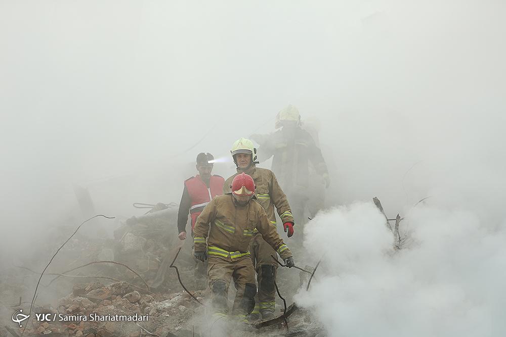 آتش سوزی و فیلمهای ریزش ساختمان پلاسکو + تصاویر تکمیلی