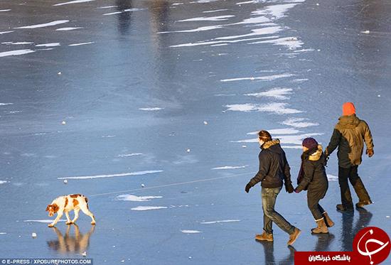 دومین رود بلند اروپا یخ زد +تصاویر