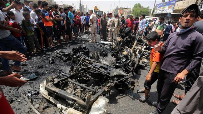انفجار خودروی بمبگذاری شده در خیابان الرشید بغداد