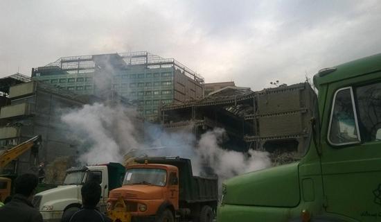 هشتمین روز حادثه پلاسکو/ امروز 2 پیکر آتش نشان شهید از زیر آوار خارج شد