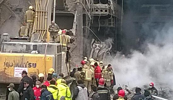 هشتمین روز حادثه پلاسکو/ امروز 3 پیکر آتش نشان شهید از زیر آوار خارج شد