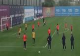 باشگاه خبرنگاران -تکنیک بازیکنان بارسلونا در تمرینات فوتبال + فیلم