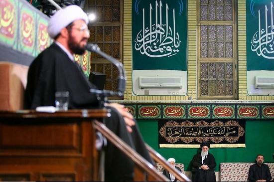 مراسم عزاداری شب شهادت حضرت فاطمه زهرا (سلاماللهعلیها) در حسینیه امام خمینی