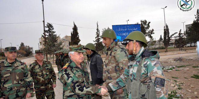 بازدید رئیس ستاد کل از جبهه های حلب