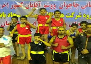 نائب قهرمانی استان در مسابقات ووشوی کشور
