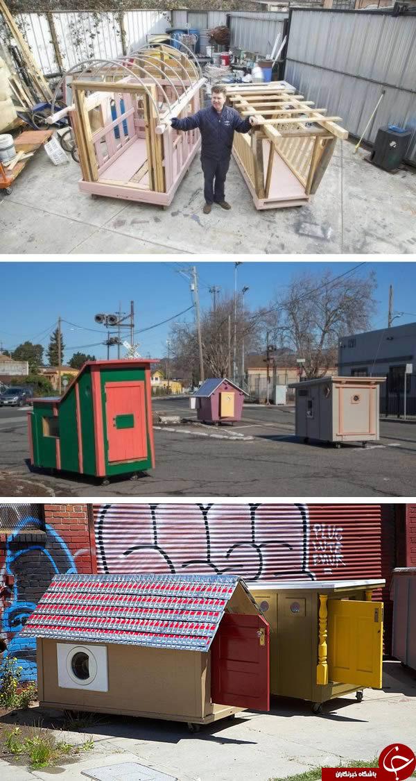 ایدهها خلاق و دلگرم کننده برای کمک به بی خانمانها+تصاویر