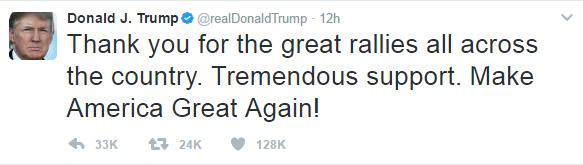 ترامپ از هوادارانش برای به راه انداختن تظاهرات خشونتبار تشکر کرد!+ عکس
