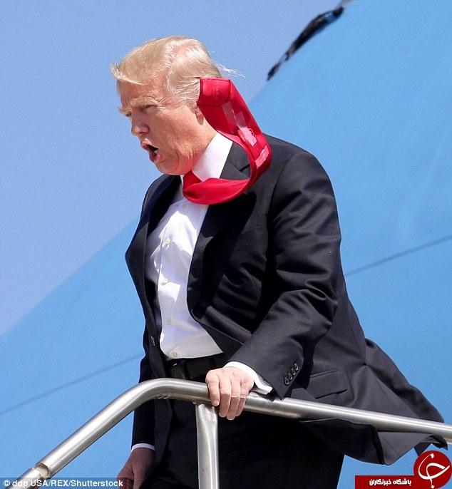 کراوات ترامپ سوژه عکاسان شد +عکس