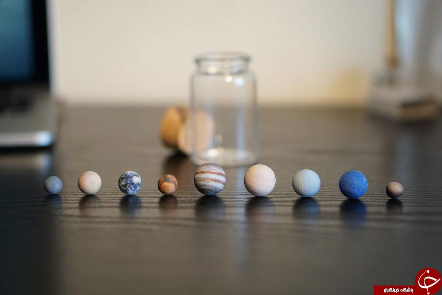 ساخت ماکت سیارات با چاپگر سه بعدی + تصاویر