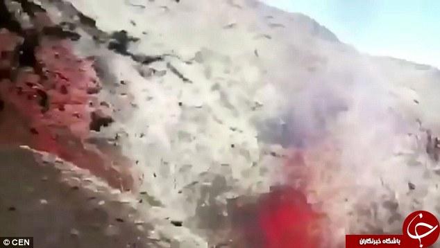 لحظه هولناک فوران آتش فشان ویللرریکا + فیلم