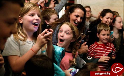 ترامپ بازدیدکنندگان کاخ سفید را غافلگیر کرد+ تصاویر