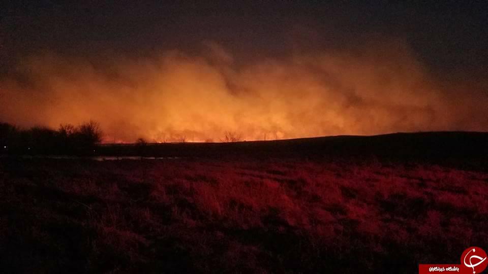 وقوع آتش سوزی گسترده در 5 ایالت آمریکا/ 1 میلیون هکتار زمین ویران شد+ تصاویر