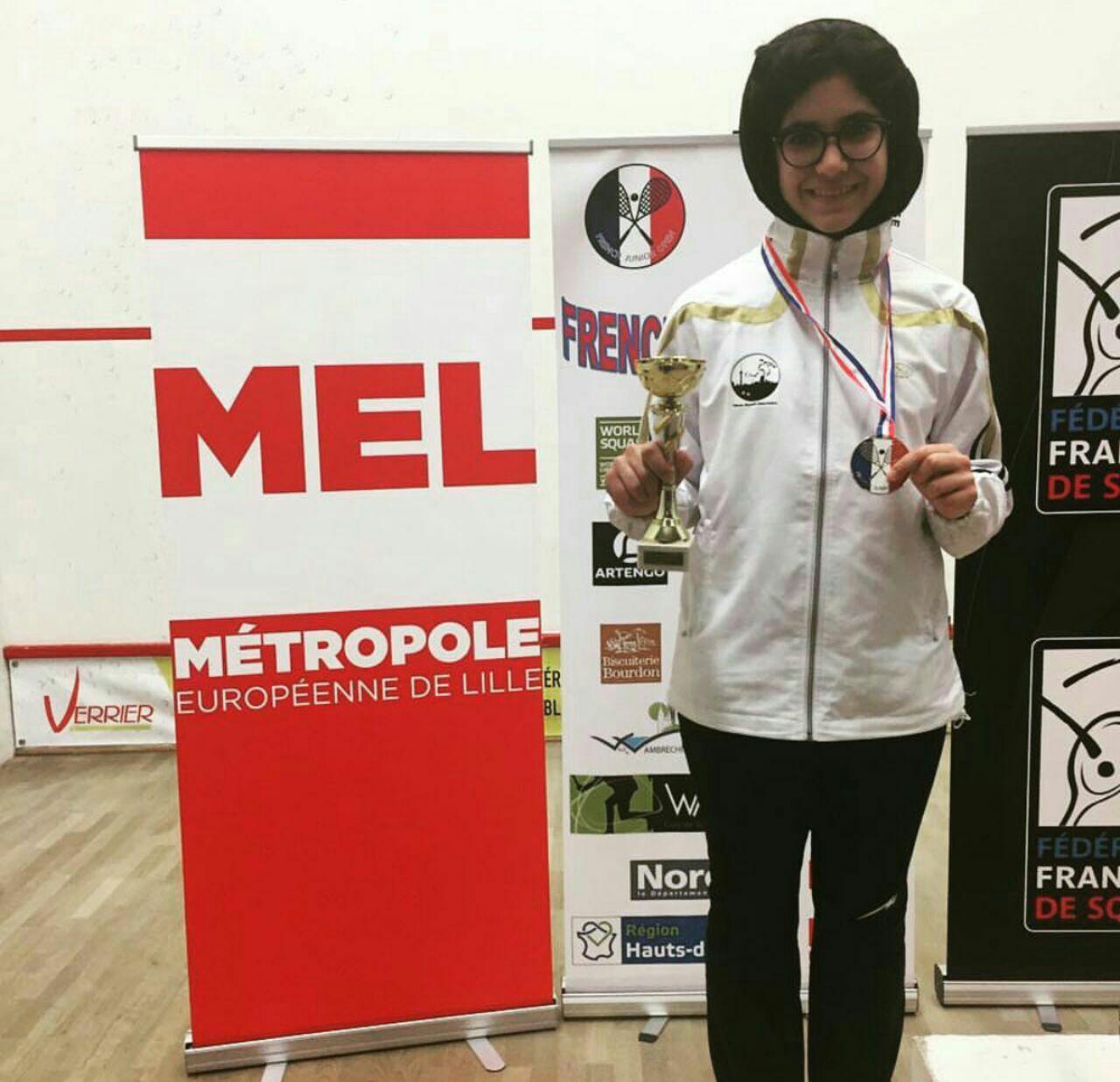 اسکواش باز ایرانی مدال برنز اروپا را گرفت
