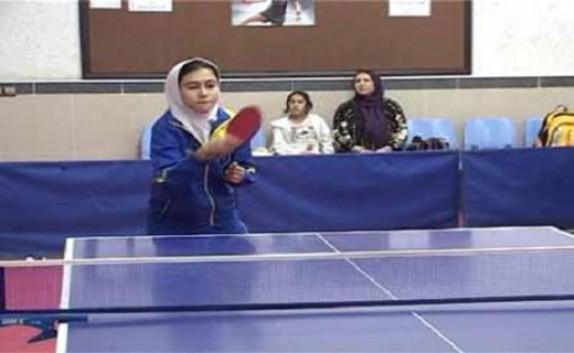 باشگاه خبرنگاران - الینا رحیمی پینگ پنگ باز مهابادی قهرمان طرح هوپس در آذربایجان غربی