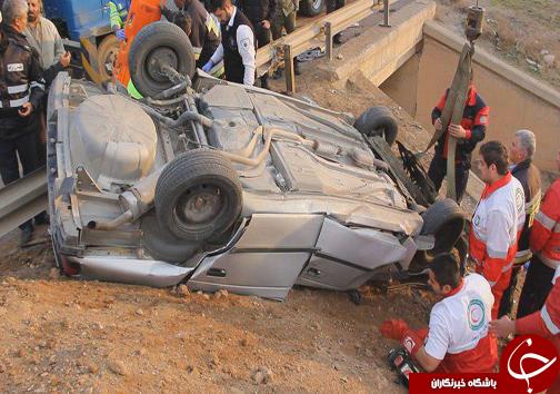 4 کشته براثر واژگونی خودرو+تصاویر