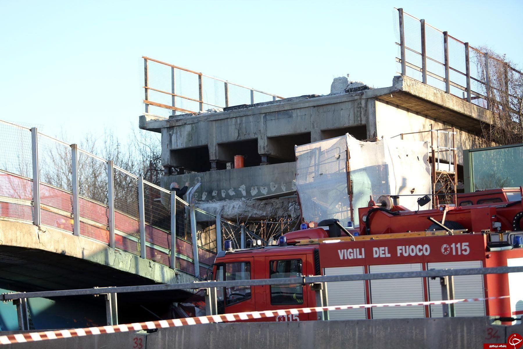 سقوط هولناک پلی در بزرگراه