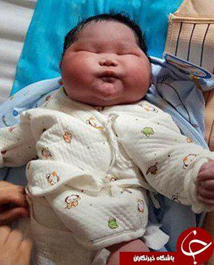 تولد نوزاد 7 کیلویی در چین +تصاویر