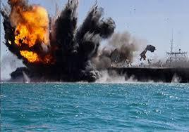 انهدام یک فروند قایق نظامی سعودی در ساحل غربی