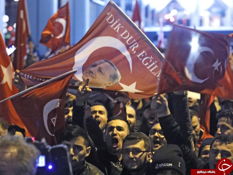 پلیس هلند تظاهرات حامیان اردوغان را سرکوب کرد