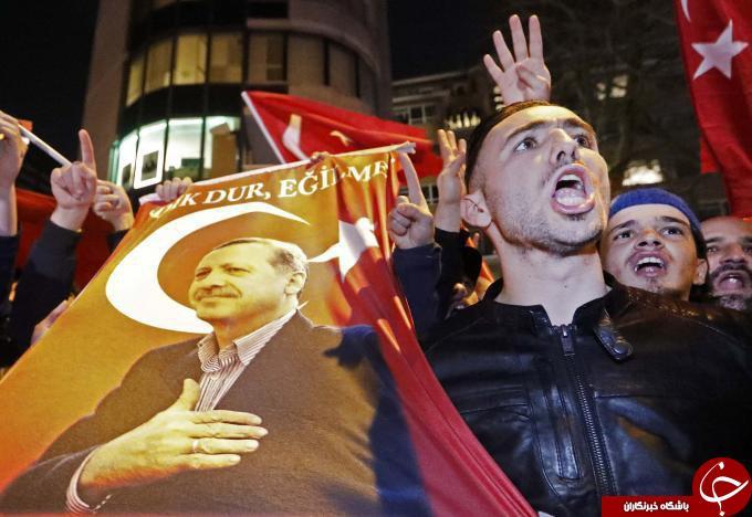 پلیس هلند تظاهرات حامیان اردوغان را سرکوب کرد + تصاویر