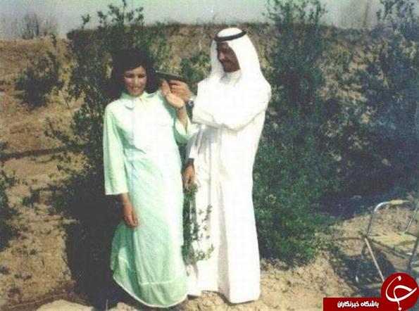 شوخی مرگبار صدام حسین با همسرش  عکس