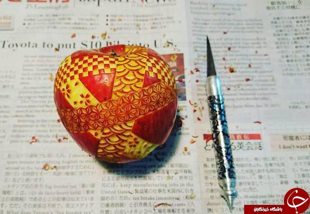 حکاکی بی نظیر هنرمند ژاپنی روی خوراکی ها+تصاویر