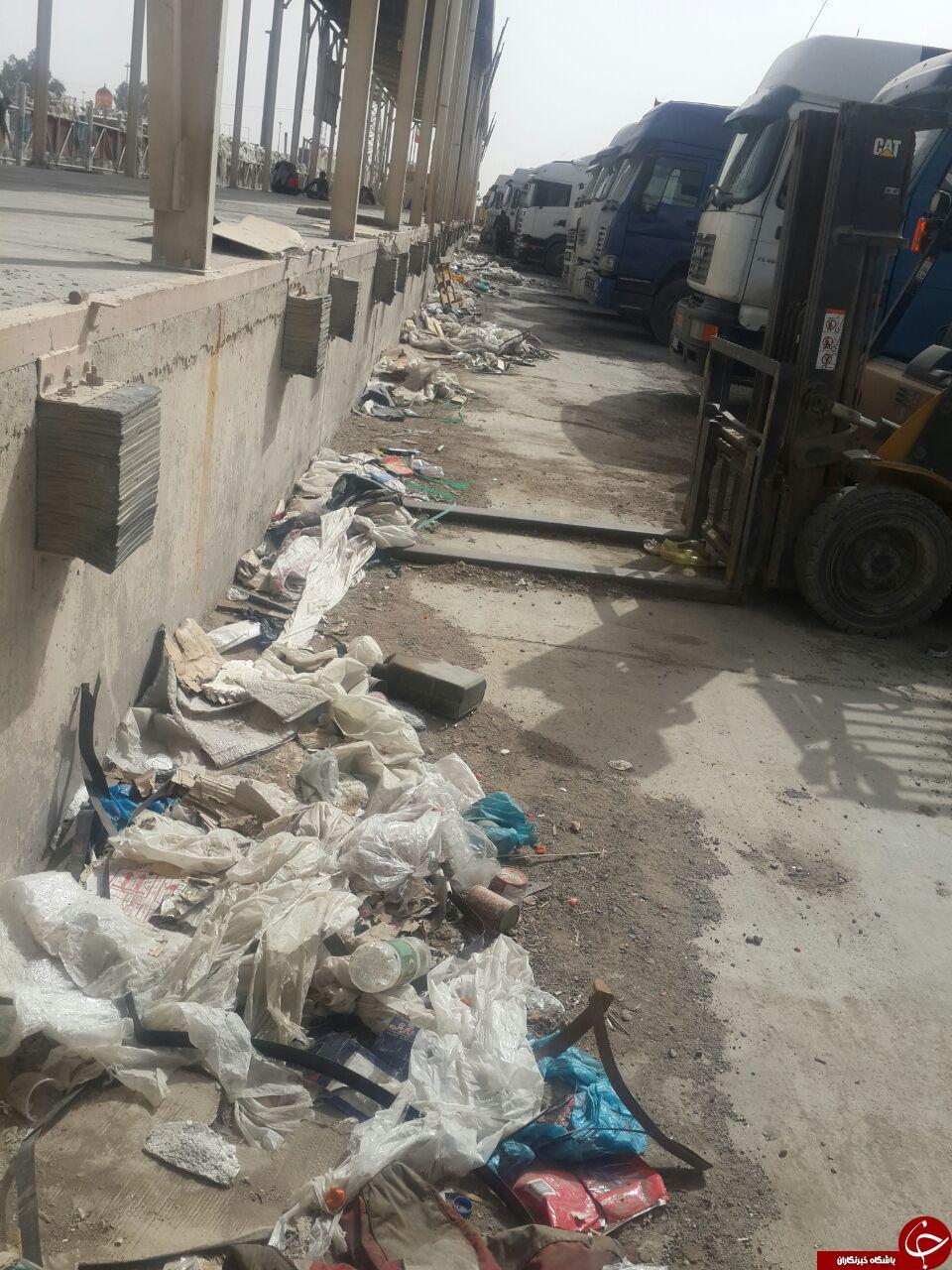 گلایه رانندگان از وضعیت پایانه مرزی ایران - عراق + تصاویر