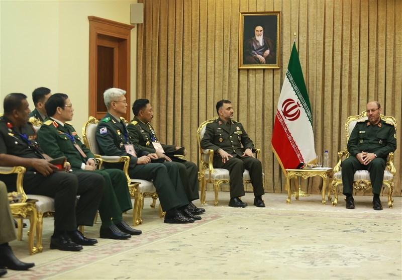 مسئولان کشورهای آسیایی عضو سیزم با وزیر دفاع دیدار کردند