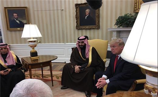 محمد بن سلمان در کاخ سفید با ترامپ دیدار کرد