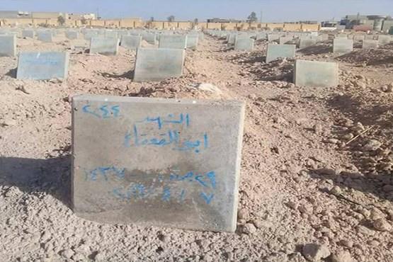 قبرستان تروریست های داعش پیدا شد +عکس