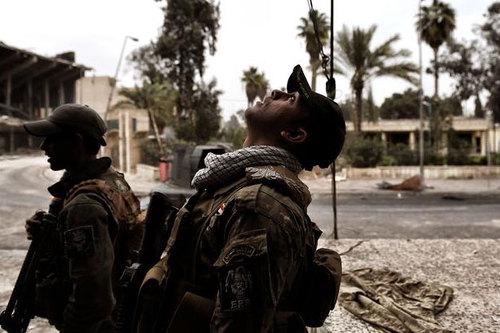 استفاده از پهپاد مسلح علیه داعش در موصل +تصاویر