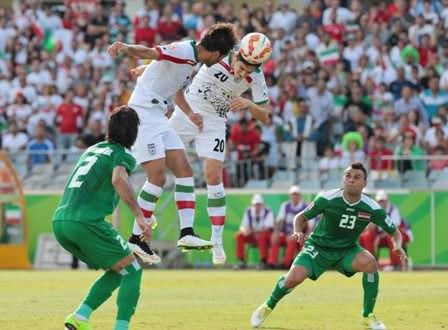 پایان نیمه نخست دیدار تدارکاتی تیم های ملی فوتبال ایران و عراق
