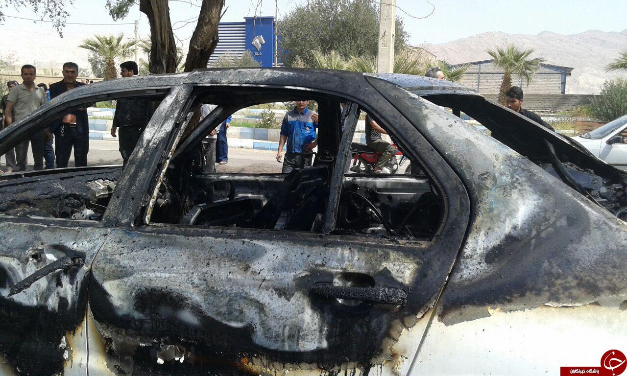 شهروند دهلرانی خودروی خود را آتش زد + تصاویر