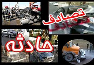 1 کشته در تصادف کامیون با پراید در آزاد راه کاشان - نطنز