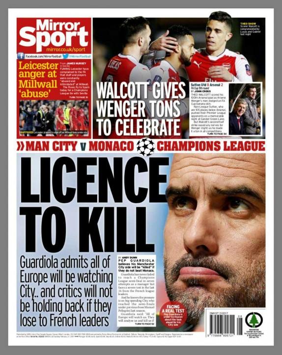 باشگاه خبرنگاران -اعتراف گواردیولا در ارتباط با قتل/توپچی های لندنی به رویاپردازی ساتون یونایتد پایان دادند