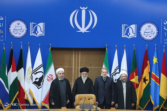 حضور رهبر معظم انقلاب در ششمین کنفرانس بین المللی حمایت از انتفاضه فلسطین