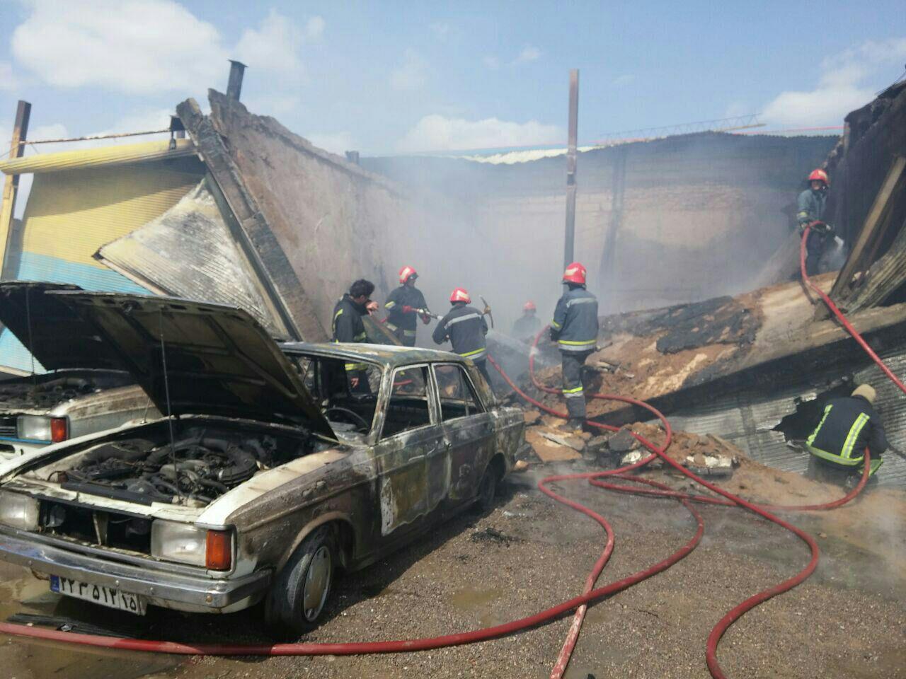 4 مصدوم در انفجار کپسول گاز در مغازه پیک نیک پرکنی در تبریز