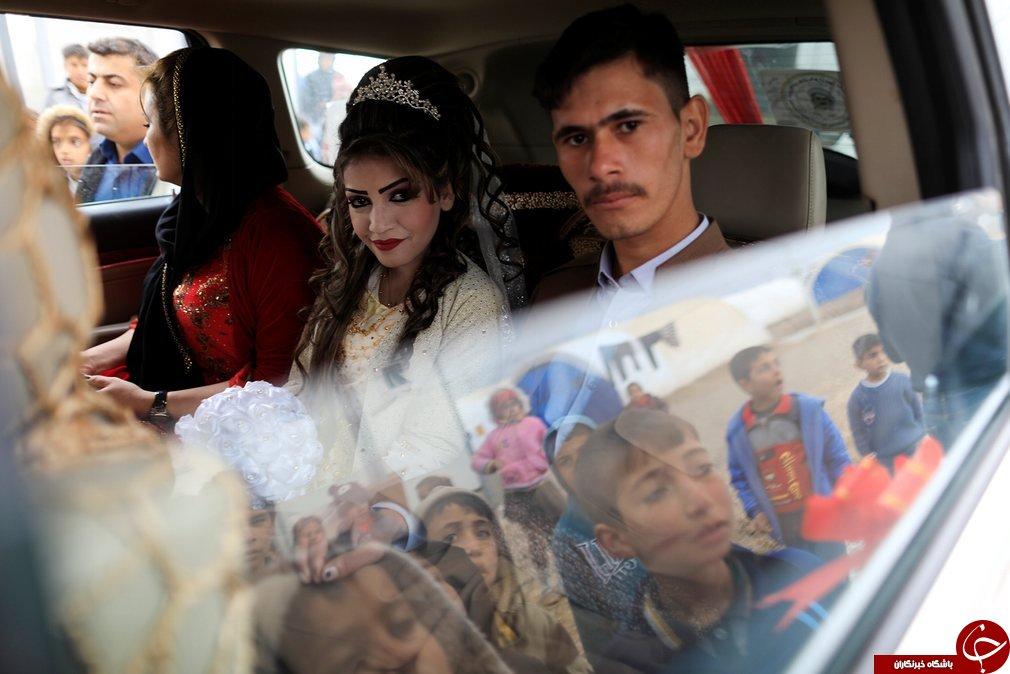 ازدواج عروس و داماد فراری در اردوگاه موصل+تصاویر