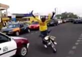 باشگاه خبرنگاران - حرکات-نمایشی-دیوانه-وار-با-موتورسیکلت-در-خیابان-فیلم