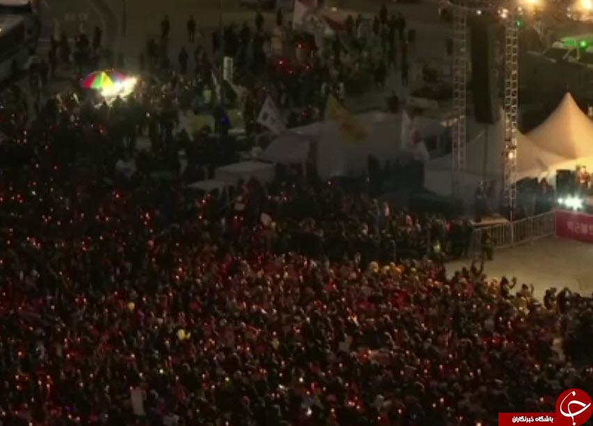 تظاهرات هزاران شهروند کره جنوبی برای استیضاح رئیسجمهور این کشور